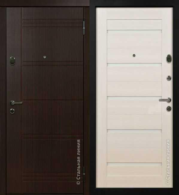 Дверь-сейф Венге/светлый дуб