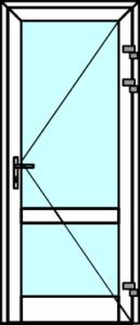 Алюминиевая дверь холодная