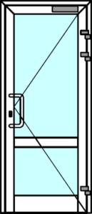 Алюминиевая дверь тёплая