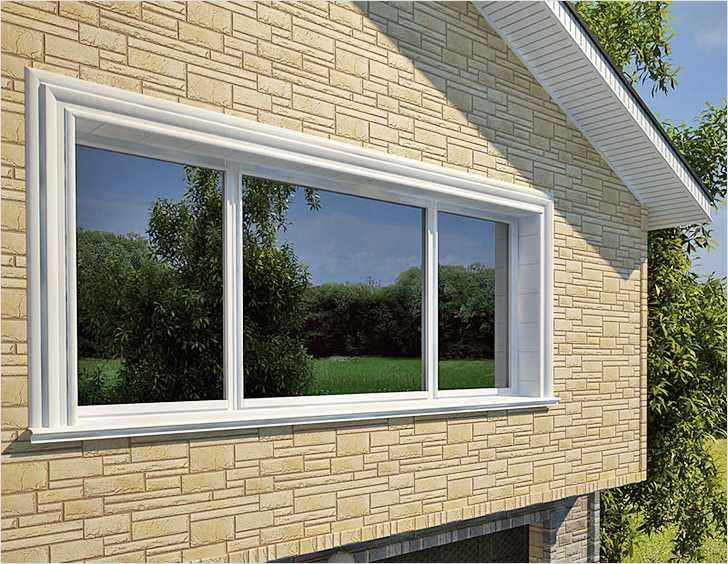 Горизонтальные окна ПВХ
