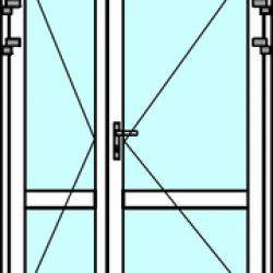 Алюминиевая дверь тёплая двупольная